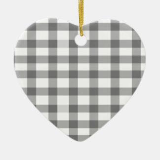 Guinga negra adorno de cerámica en forma de corazón