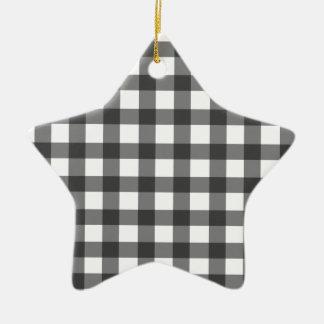Guinga negra adorno de cerámica en forma de estrella