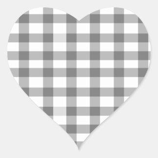 Guinga negra pegatina en forma de corazón