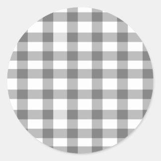 Guinga negra pegatina redonda