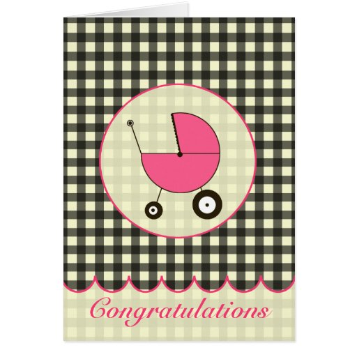 Guinga negra/tarjeta rosada de la enhorabuena del