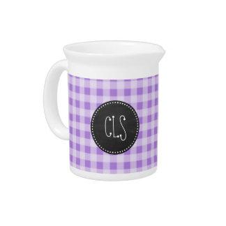 Guinga púrpura Amethyst; Mirada de la pizarra Jarra Para Bebida