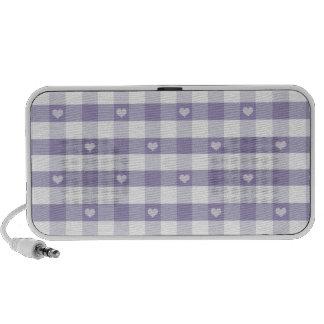Guinga púrpura, blanco, corazones, moda del país, iPhone altavoz