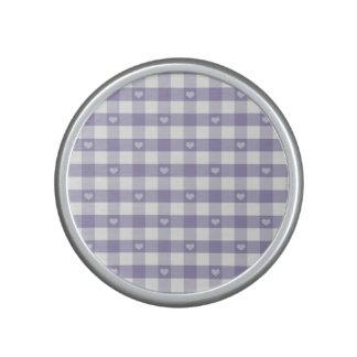 Guinga púrpura, blanco, corazones, moda del país, altavoz