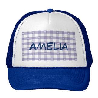 Guinga púrpura, blanco, corazones, moda del país, gorras de camionero
