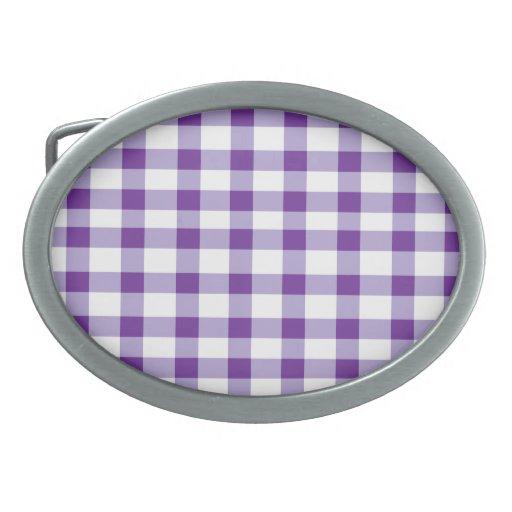 Guinga púrpura hebillas de cinturon ovales