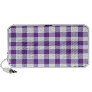Guinga púrpura laptop altavoces