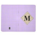 Guinga púrpura, monograma de la perla cuaderno grapado