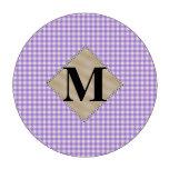 Guinga púrpura, monograma de la perla fichas de póquer