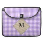 Guinga púrpura, monograma de la perla funda macbook pro