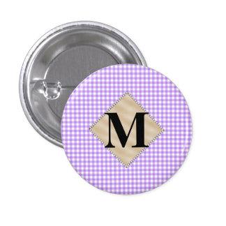 Guinga púrpura, monograma de la perla pin