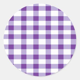 Guinga púrpura pegatina redonda