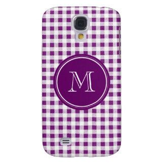 Guinga púrpura y blanca, su monograma