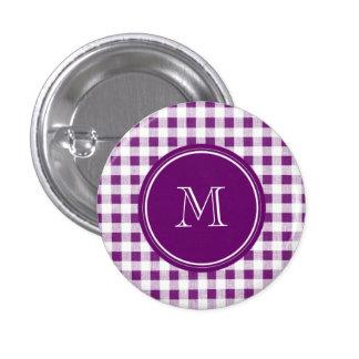 Guinga púrpura y blanca, su monograma pin