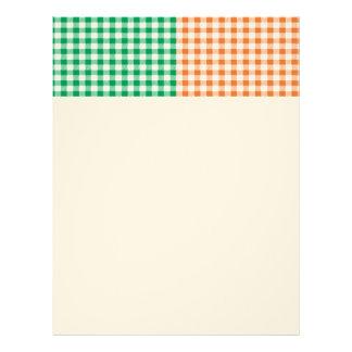 guinga, remiendo, verde, rojo, blanco, naranja, plantillas de membrete