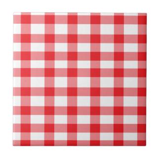 Guinga roja azulejo cuadrado pequeño