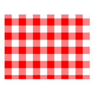 Guinga roja brillante de encargo tarjetas postales