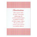 Guinga roja + Color de encargo Invitación 12,7 X 17,8 Cm