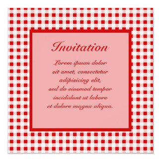 """Guinga roja + Color de encargo Invitación 5.25"""" X 5.25"""""""