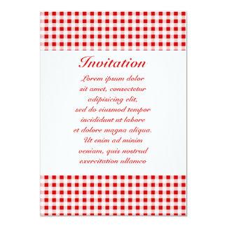 """Guinga roja + Color de encargo Invitación 5"""" X 7"""""""