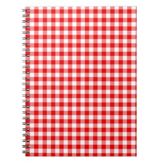 Guinga roja spiral notebook
