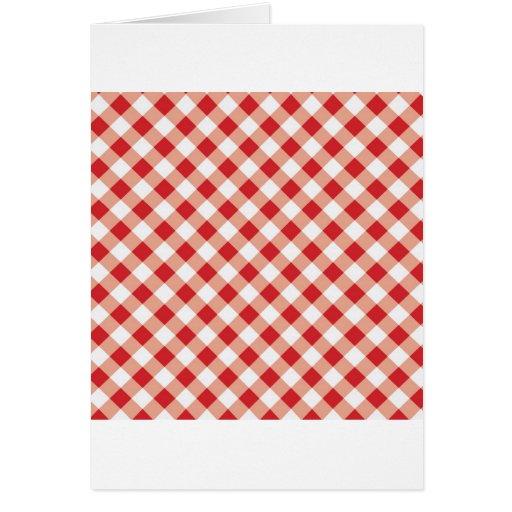 Guinga roja tarjeta de felicitación