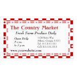 Guinga roja y blanca americana clásica de la casa  tarjetas de negocios