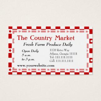 Guinga roja y blanca americana clásica de la casa tarjeta de negocios