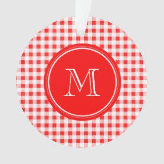 Guinga roja y blanca, su monograma