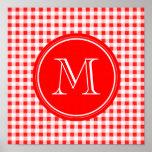 Guinga roja y blanca, su monograma poster