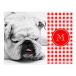 Guinga roja y blanca, su monograma tarjetas postales