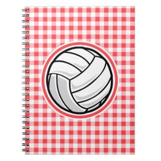 Guinga roja y blanca; Voleibol Libros De Apuntes