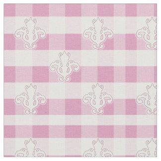 Guinga rosada con la tela de la flor de lis telas