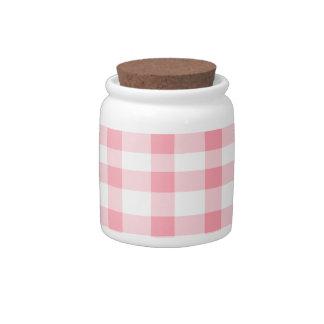 Guinga rosada plato para caramelo