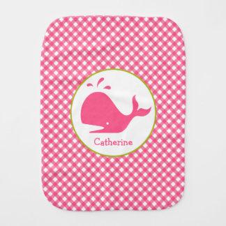 Guinga rosada + Paño del Burp de la ballena Paños De Bebé
