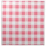 Guinga rosada servilletas imprimidas