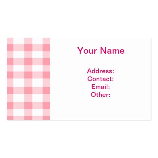 Guinga rosada tarjetas de visita
