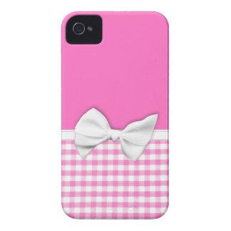 Guinga rosada y femenina con el arco de la cinta Case-Mate iPhone 4 coberturas