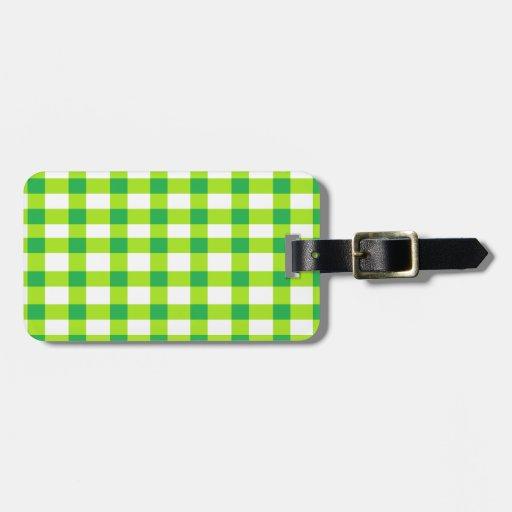 Guinga verde etiquetas para equipaje