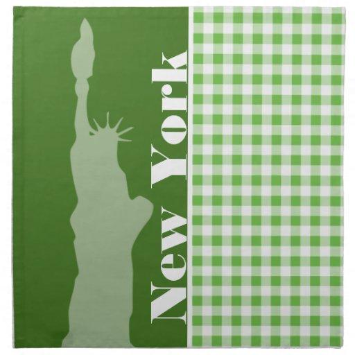 Guinga verde Nueva York; Estatua de la libertad Servilletas