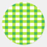 Guinga verde pegatina redonda