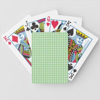 Guinga verde y blanca baraja de cartas bicycle