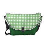 Guinga verde y blanca bolsa de mensajeria