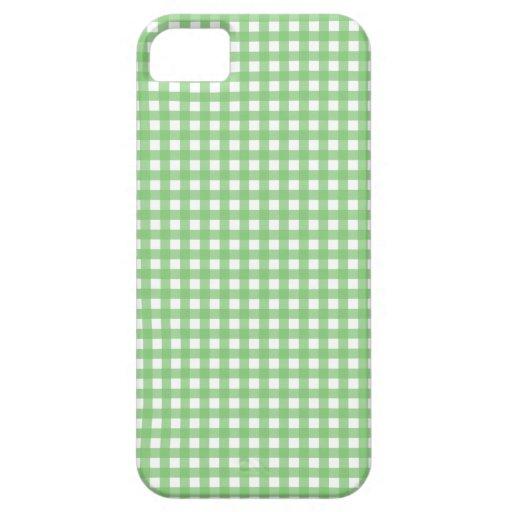 Guinga verde y blanca iPhone 5 Case-Mate coberturas