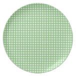 Guinga verde y blanca plato
