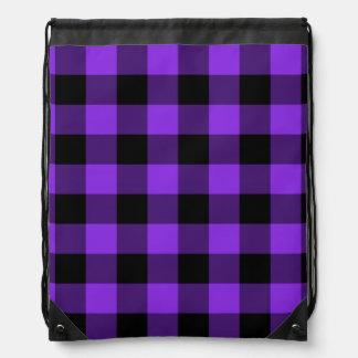 Guinga violeta y negra azul mochila