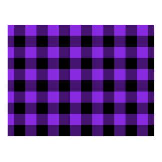Guinga violeta y negra azul tarjeta postal
