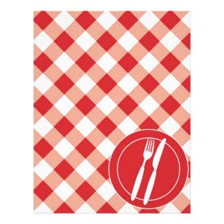 """Guinga y cubiertos rojos folleto 8.5"""" x 11"""""""