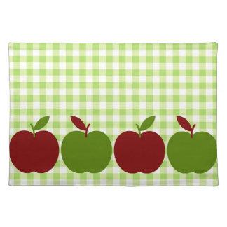 Guinga y manzanas manteles individuales