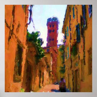 Guinigi Tower Lucca Poster